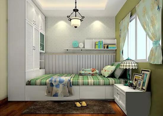 小户型是现今年轻白领的最爱,空间小,可创意却不少。不管其他,只要能保证自己有一个舒适的小窝,发挥自己的创意是可以集各种功能于一体的,照样能好吃、好睡,好学习,好工作,好生活,一样很强大。       两铺床,办公桌,储物柜...该有的都有了,如果你还觉得这只是一个卧室,那你就太小看它了。       蜗居也就这样了,把书藏在床的周围,一个空间顿时变成了两个空间(卧室+书房)。你想入住这样一个超节省空间的卧室吗?