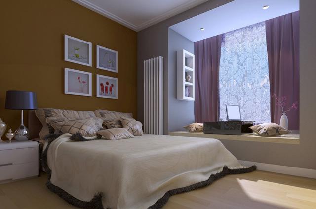 卧室是让我们放松休息的地方,所以在装修时我们一定要将舒适度与私密性放在首位。由于是小户型,像电视柜之类的家居用品就可以舍去了,太占地方。而衣柜等应该在一开始就确定好尺寸以及它的安装位置。设计飘窗也是一个比较常见的小户型家装技巧。飘窗不仅能够增加卧室的明亮度与宽敞度,还能够让居室更加舒适。
