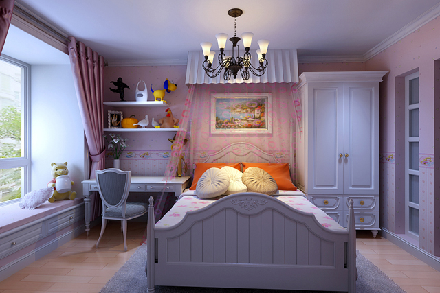 120平米地中海装修效果图(卧室)