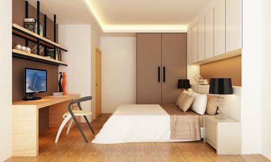 次卧兼书房装修效果图-古雅精致 120㎡强收纳极简约现代三居