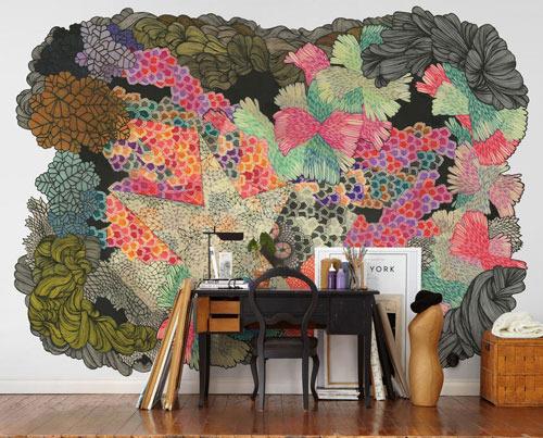 创意手绘壁纸 让你的居室与众不同 - 华夏家博会